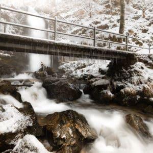 Under the frozen bridge