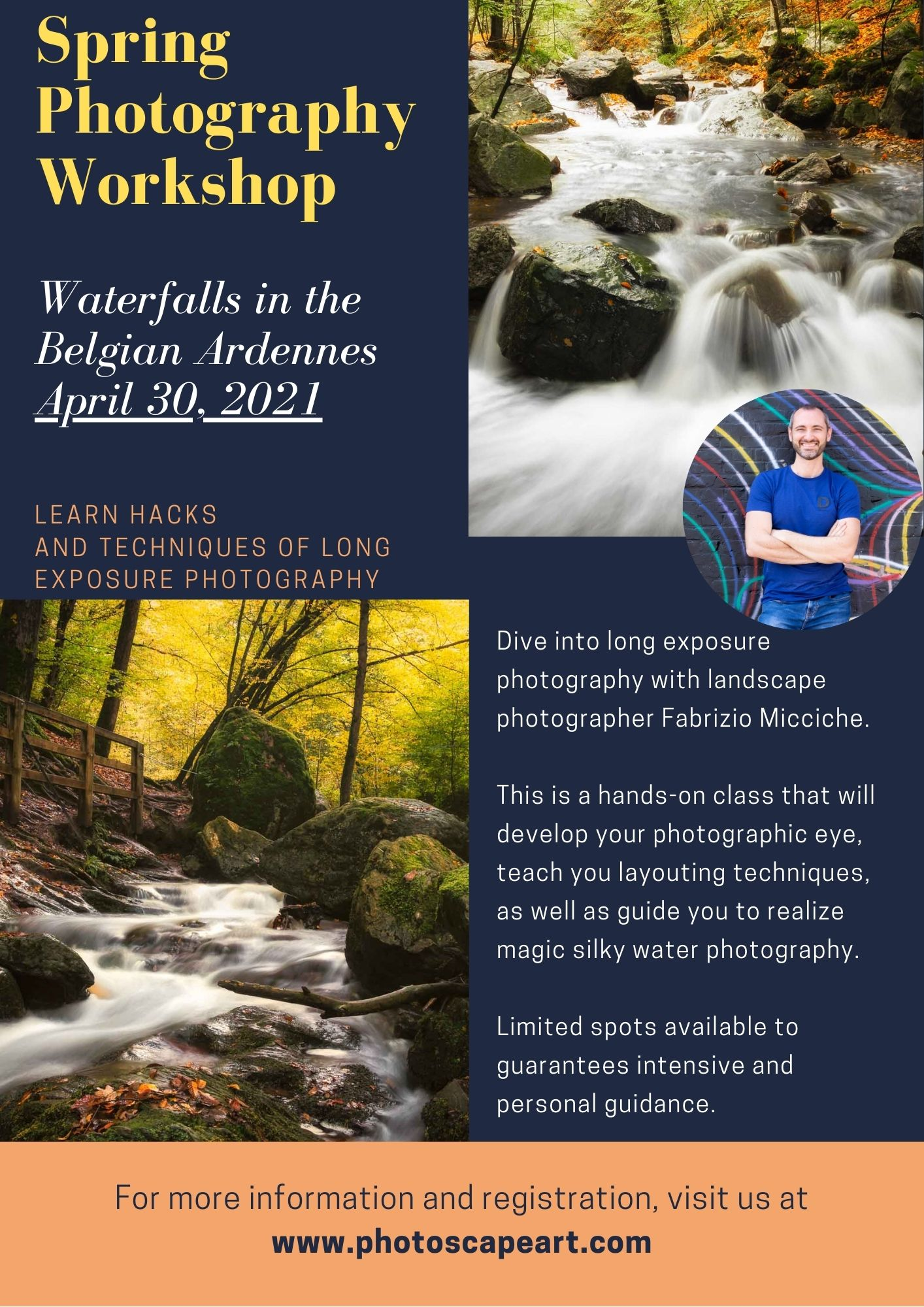 Spring Photography workshop 'Waterfalls in the Ardennes'_
