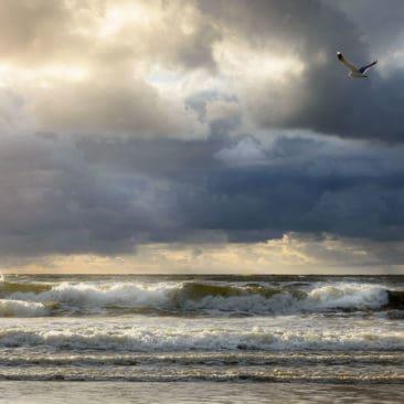 Texel storm at sea